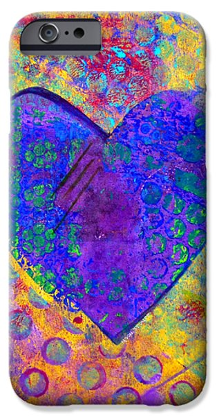 Fine Art Abstract iPhone Cases - Heart of Hearts series - Compassion iPhone Case by Moon Stumpp