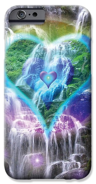 Heart of Waterfalls iPhone Case by Alixandra Mullins