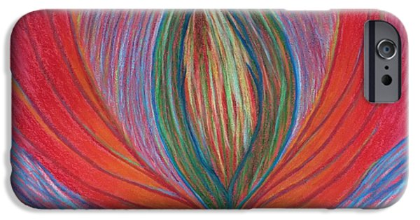Spiritual Pastels iPhone Cases - Heart Opening iPhone Case by Jamie Rogers
