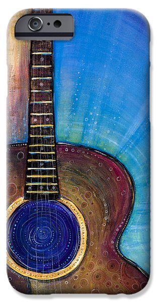 Guitar Strings iPhone Cases - Heart Song iPhone Case by Tanielle Childers