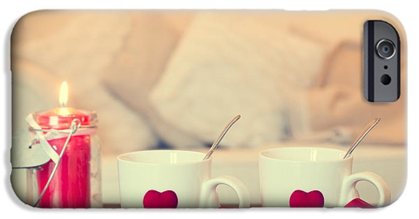Candle Lit iPhone Cases - Heart Teacups iPhone Case by Amanda And Christopher Elwell