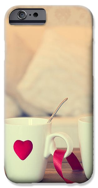Heart Teacups iPhone Case by Amanda And Christopher Elwell