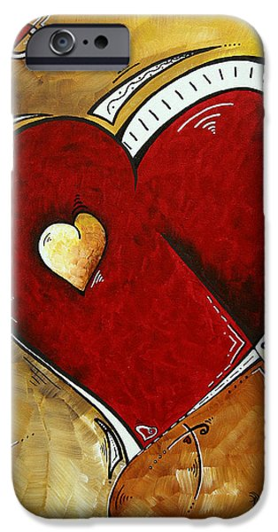 Heartbeat by MADART iPhone Case by Megan Duncanson