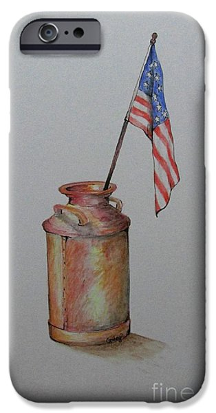 4th July Paintings iPhone Cases - Heartland America iPhone Case by Catherine Howley