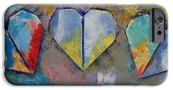 Michael iPhone Cases - Hearts iPhone Case by Michael Creese