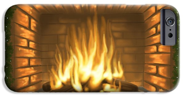 Ipad iPhone Cases - Heat Christmas iPhone Case by Veronica Minozzi