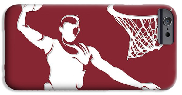 Miami Heat iPhone Cases - Heat Shadow Player1 iPhone Case by Joe Hamilton