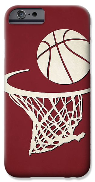 Miami Heat iPhone Cases - Heat Team Hoop2 iPhone Case by Joe Hamilton