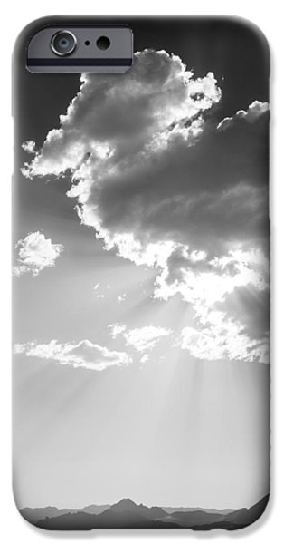 Black And White Landscapes iPhone Cases - Heaven and Speed I - Bonneville Salt Flats iPhone Case by Holly Martin