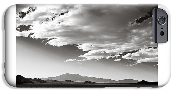 Dry Lake iPhone Cases - Heaven and Speed III iPhone Case by Holly Martin