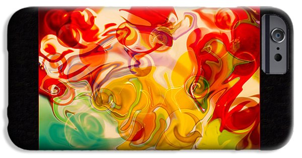 Counterculture iPhone Cases - Heaven Conquers Hell an Abstract Adventure iPhone Case by Omaste Witkowski