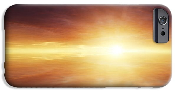 Cloudscape Photographs iPhone Cases - Heaven iPhone Case by Les Cunliffe