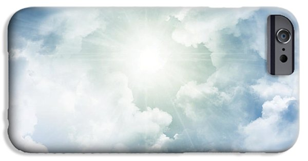 Heaven Photographs iPhone Cases - Heaven light iPhone Case by Les Cunliffe
