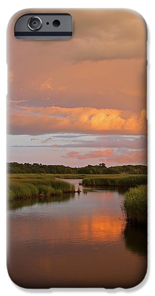 Storm Clouds Cape Cod iPhone Cases - Heaven on Earth iPhone Case by Juergen Roth