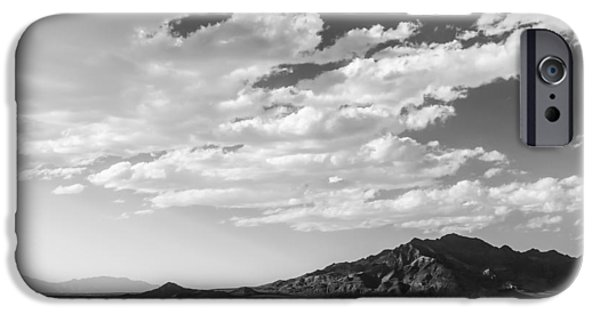 Black And White Landscapes iPhone Cases - Heaven on The Salt- Bonneville Salt Flats iPhone Case by Holly Martin