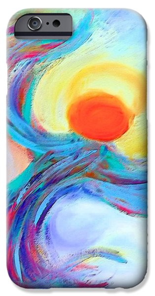 Recently Sold -  - Abstract Digital Art iPhone Cases - Heaven Sent Digital Art Painting iPhone Case by Robyn King
