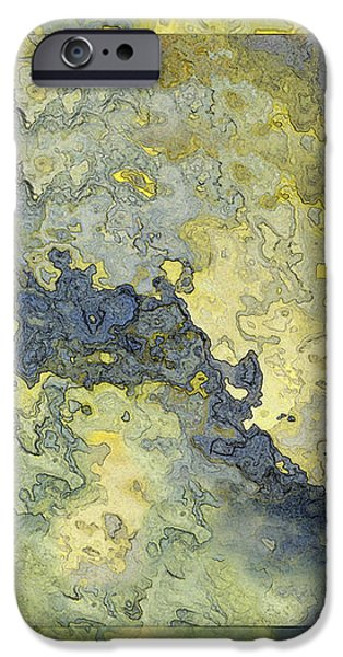 Heavenly clouds abstract iPhone Case by Debbie Portwood