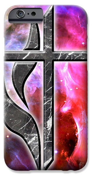 The Hatchery iPhone Cases - Heavenly Cross iPhone Case by Phill Petrovic