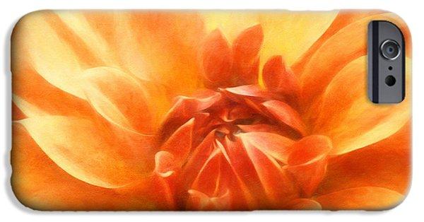 Floral Digital Art Digital Art iPhone Cases - Heavenly Dahlia iPhone Case by Georgiana Romanovna