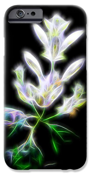 Floral Digital Art Digital Art iPhone Cases - Heavenly Glow iPhone Case by Judy Vincent