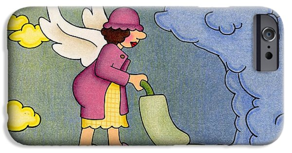 Seraphim Angel iPhone Cases - Heavenly Housekeeper iPhone Case by Sarah Batalka