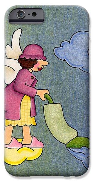 Heavenly Housekeeper iPhone Case by Sarah Batalka