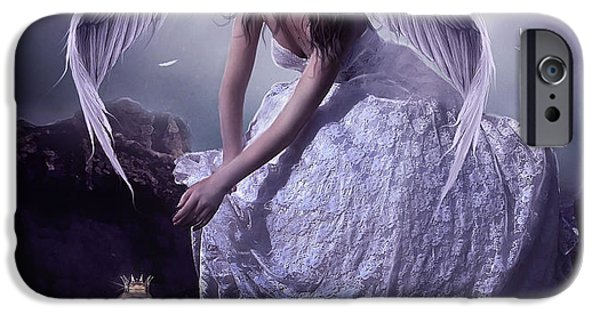 Night Angel iPhone Cases - Heavenly iPhone Case by Jessica Allain