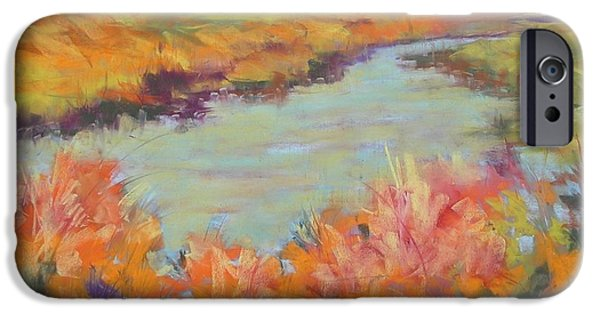 Creek Pastels iPhone Cases - Heavenly Marsh iPhone Case by Karen Ann Patton