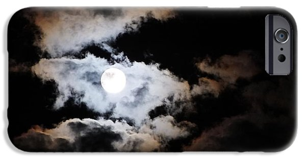 Moonscape iPhone Cases - Heavenly Moon iPhone Case by Marie-Claire Dole