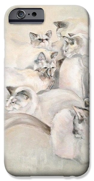 Heavenly Puffs iPhone Case by Janet Felts