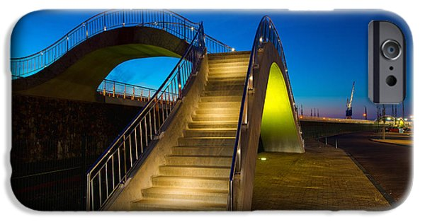 City Scape Photographs iPhone Cases - Heavenly Stairs iPhone Case by Chad Dutson