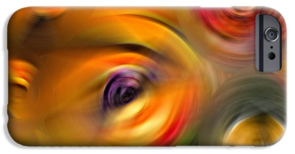 Beauty Mixed Media iPhone Cases - Heavens Eyes - Abstract Art by Sharon Cummings iPhone Case by Sharon Cummings