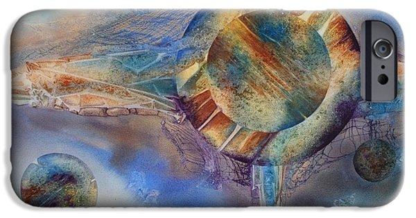 Metaphysical Paintings iPhone Cases - Heavens Gate iPhone Case by Tara Moorman