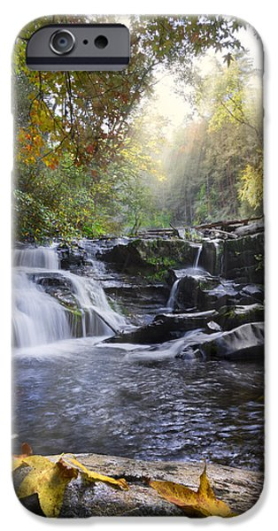 Park Scene iPhone Cases - Heavens Light iPhone Case by Debra and Dave Vanderlaan