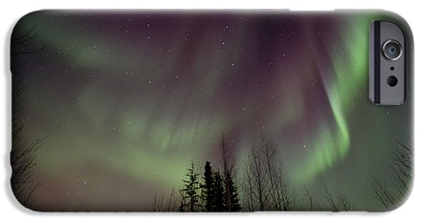 Northern Lights iPhone Cases - Heavens lights iPhone Case by Priska Wettstein