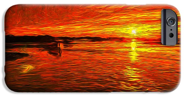 Disorder iPhone Cases - Heavens of Fire iPhone Case by John Bailey