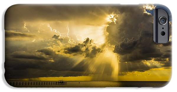 Gulf iPhone Cases - Heavens Window iPhone Case by Marvin Spates