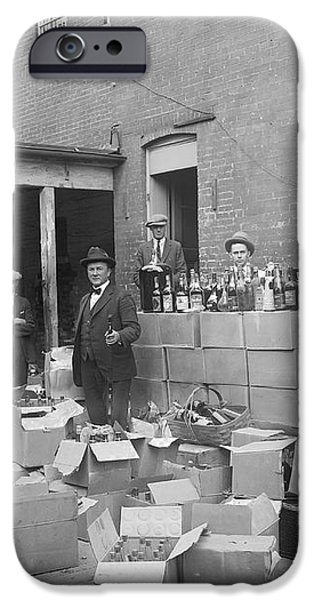 HEAVILY ARMED FEDS SEIZE LIQUOR CACHE 1922 iPhone Case by Daniel Hagerman