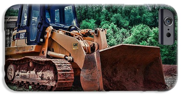 Construction Equipment iPhone Cases - Heavy Construction Equipment - Bulldozer iPhone Case by Paul Ward