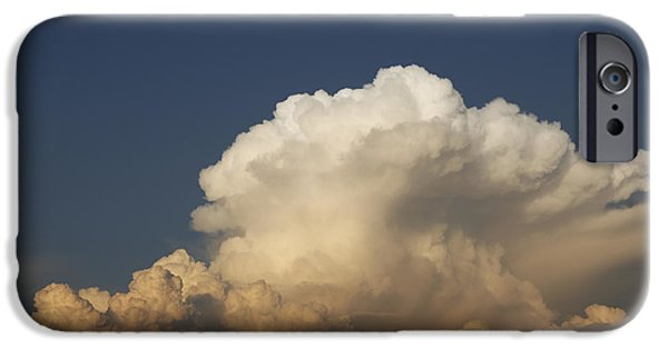 Turbulent Skies iPhone Cases - Heavy gale stormy clouds iPhone Case by Ernst Cerjak