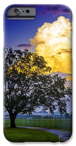 Park Benches iPhone Cases - Heavy Sky iPhone Case by Marvin Spates