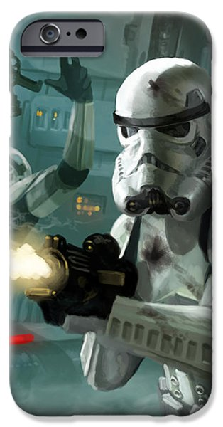 Heavy Storm Trooper - Star Wars the Card Game iPhone Case by Ryan Barger