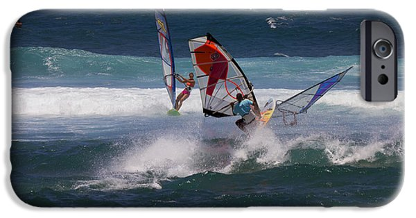 Windsurfer iPhone Cases - Heavy Traffic iPhone Case by Mike  Dawson