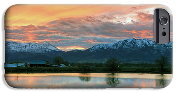 Evening Scenes iPhone Cases - Heber Valley Sunset iPhone Case by Johnny Adolphson