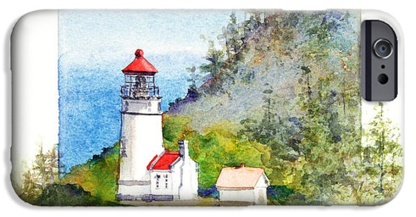 Lighthouse iPhone Cases - Heceta Head Lighthouse iPhone Case by Bonnie Rinier