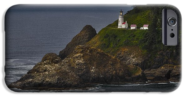 Strong America iPhone Cases - Heceta Head Lighthouse iPhone Case by Joan Carroll