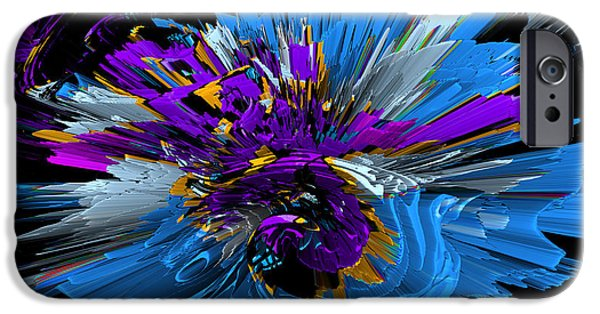 Colorful Abstract iPhone Cases - Hedge backwards 72 iPhone Case by Zac Lowing