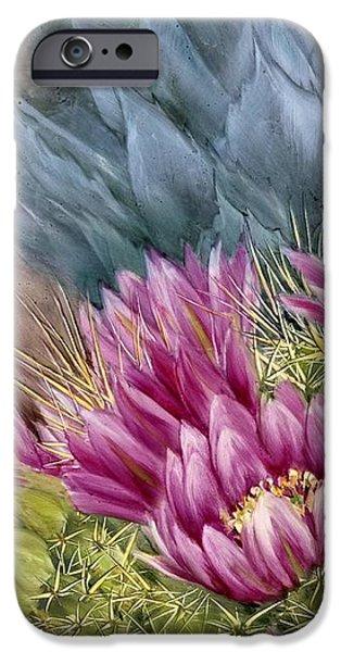 Hedgehog in Bloom iPhone Case by Summer Celeste