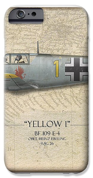 Heinz Ebeling Messerschmitt Bf-109 - Map Background iPhone Case by Craig Tinder