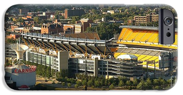 Heinz Field iPhone Cases - Heinz Field Afternoon Panorama iPhone Case by Adam Jewell